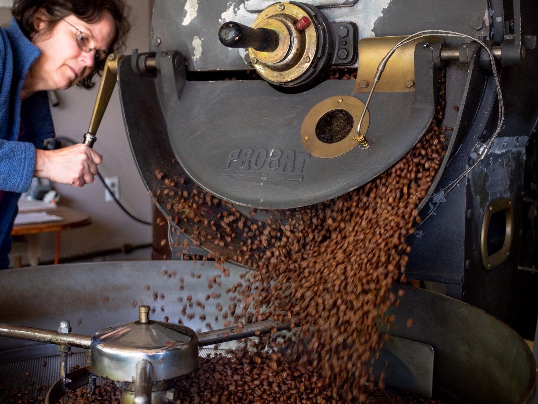 Dawn roasting coffee Blossom Coffee Roasters
