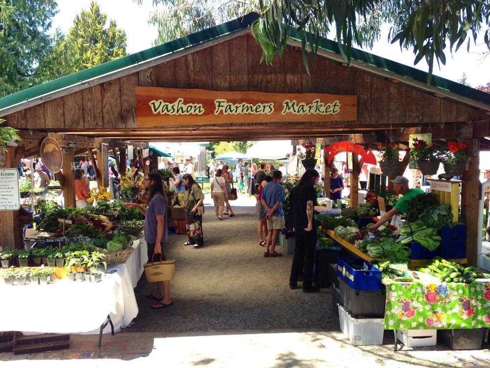 Vashon Island Farmers Market is now open